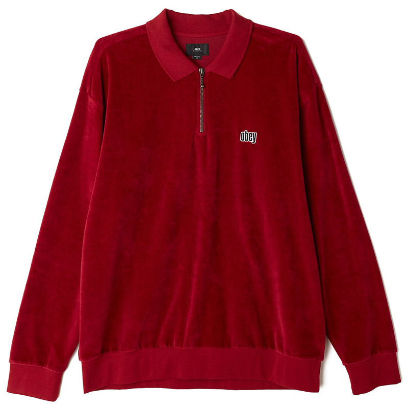 Obey Buster Classic Longsleeve Polo Fig Red
