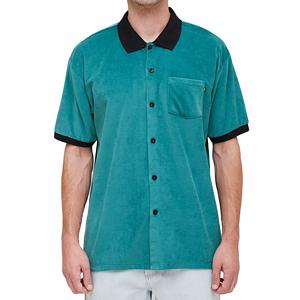 Obey Catalina Button Up Box Polo Teal