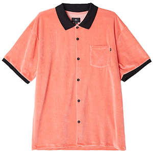 Obey Catalina Button Up Up Box Polo Coral