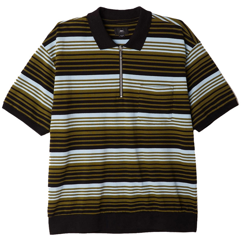 Obey Estate Polo Black Multi