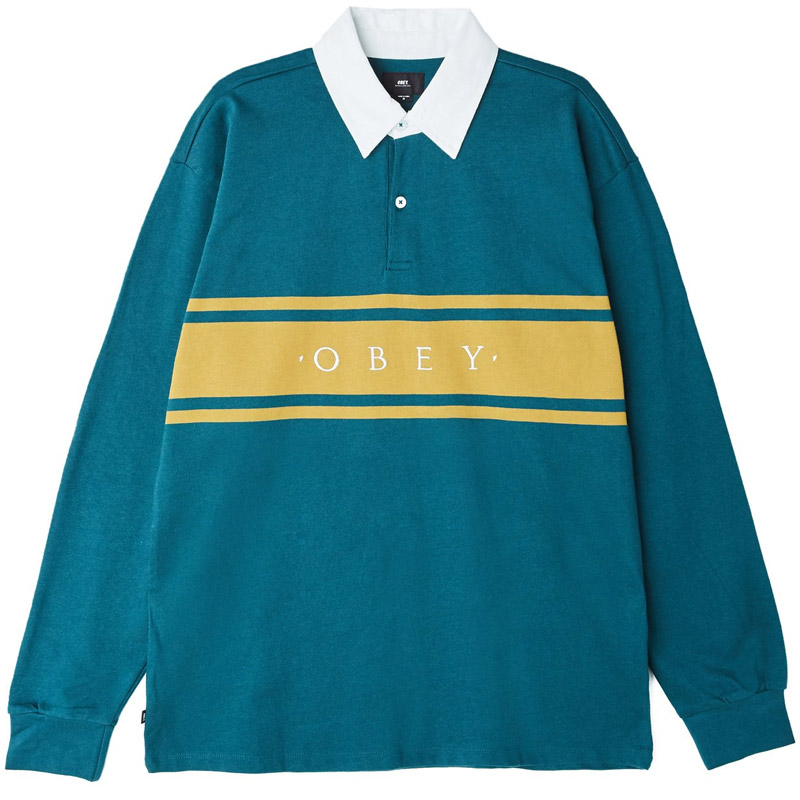Obey Hero Classic Longsleeve Polo Dark Teal