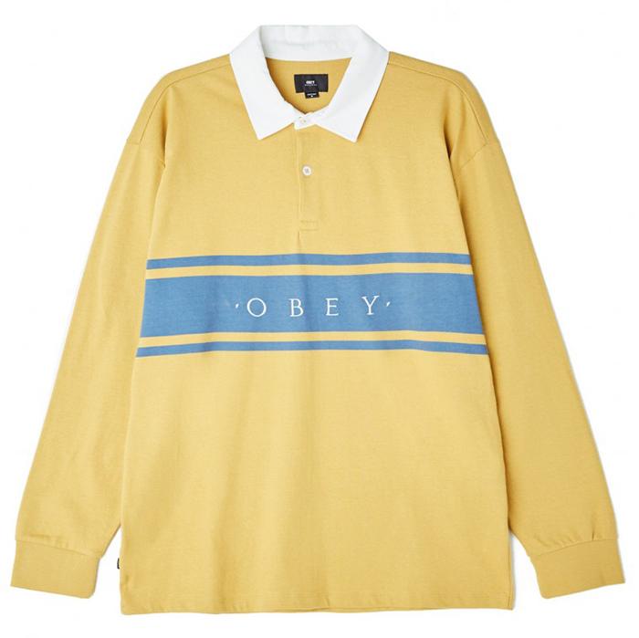 Obey Hero Classic Longsleeve Polo Dull Ochre