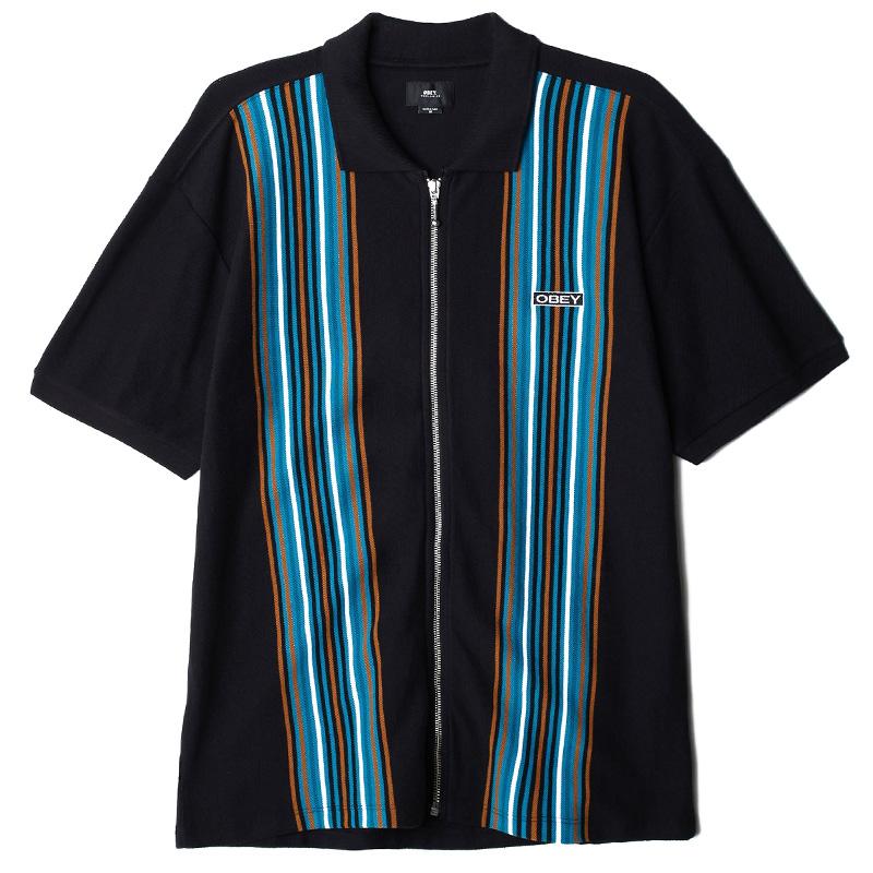 Obey Kelly Classic Zip Polo Black Multi