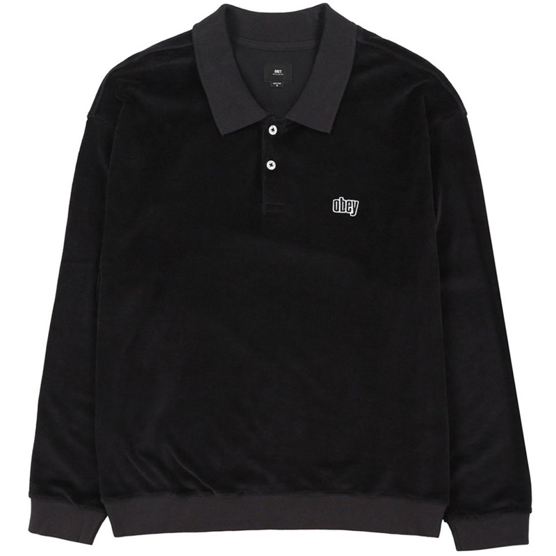 Obey Saucer Polo Black