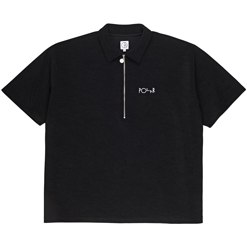 Polar Terry Surf Pique Polo Black