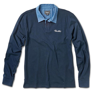 Primitive Solid Rugby Longsleeve Polo Midnight