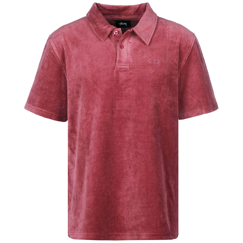 Stussy Victor Polo Maroon