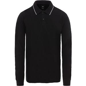 Vans Checkerboard Tip Longsleeve Polo Black