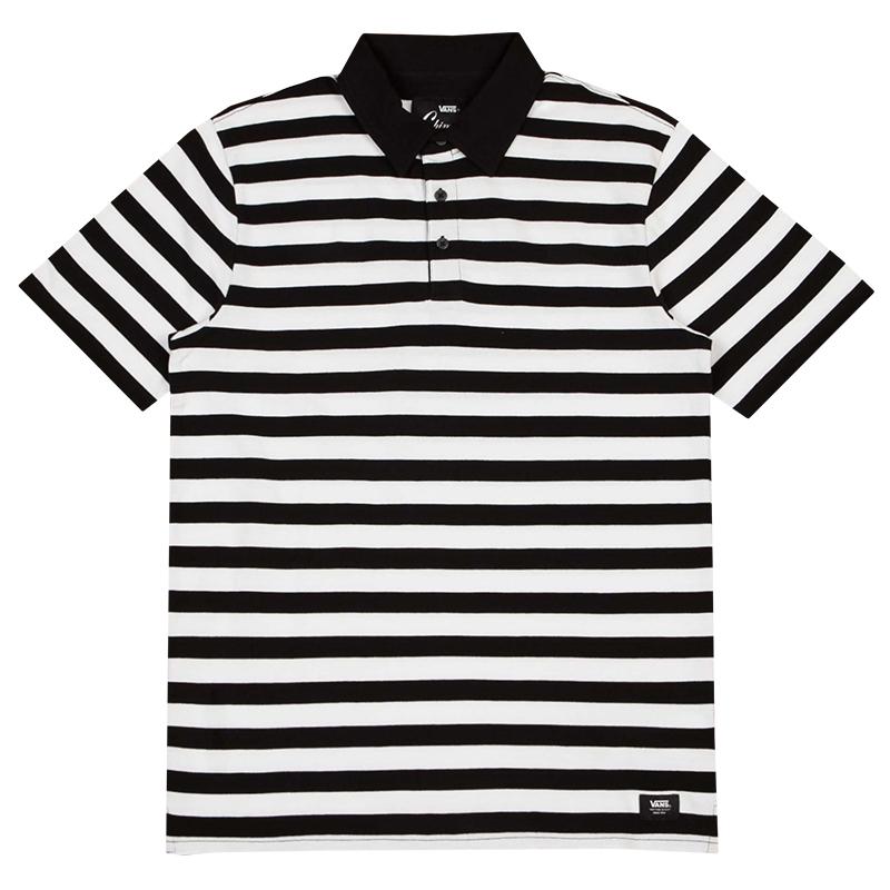 Vans Chima Striped Polo Black/White