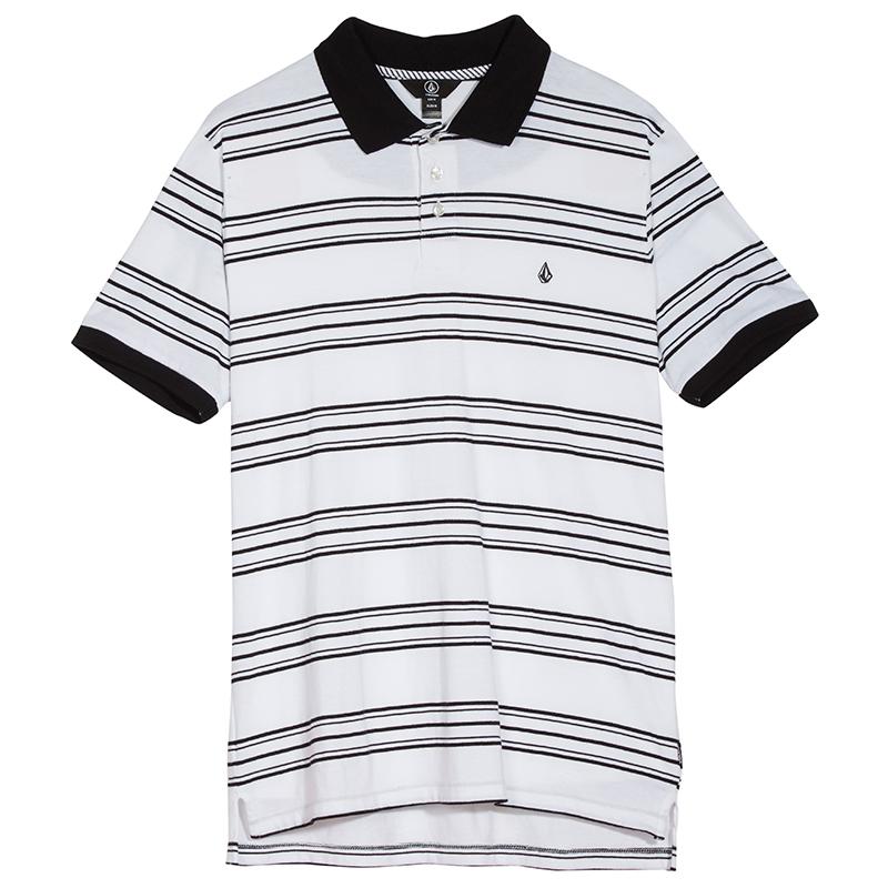 Volcom Wowzer Stripe Polo White