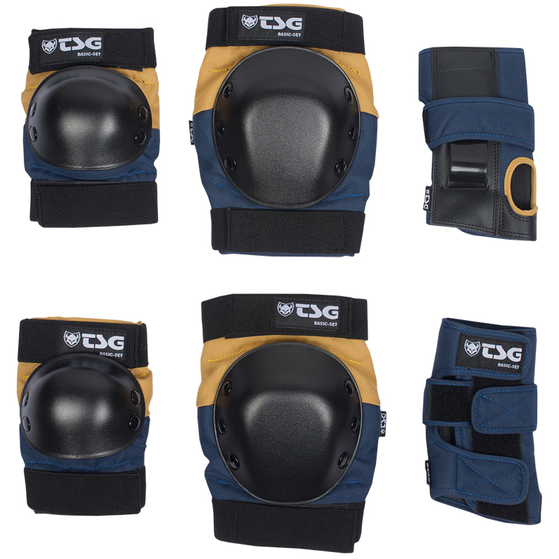 TSG Basic Protection Set Night Blue/Dusk Yellow