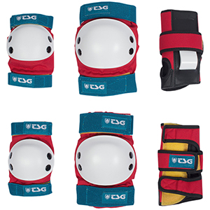 TSG Basic Protection Set Red/White/Blue