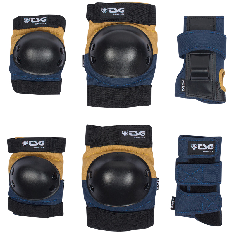 TSG Junior Protection Set Black Night Blue/Dusk Yellow