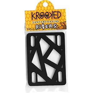 Krooked Riserpads Black 1/4 Inch