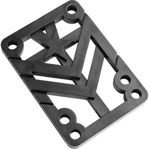 Mini Logo Riser Pad Rigid Black .25 -2-pack-