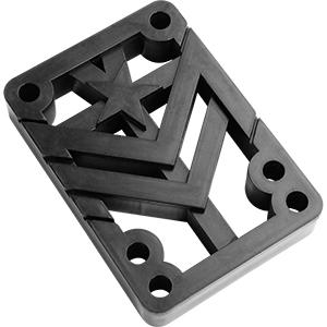 Mini Logo Riser Pad Rigid Black .50 -2-pack-