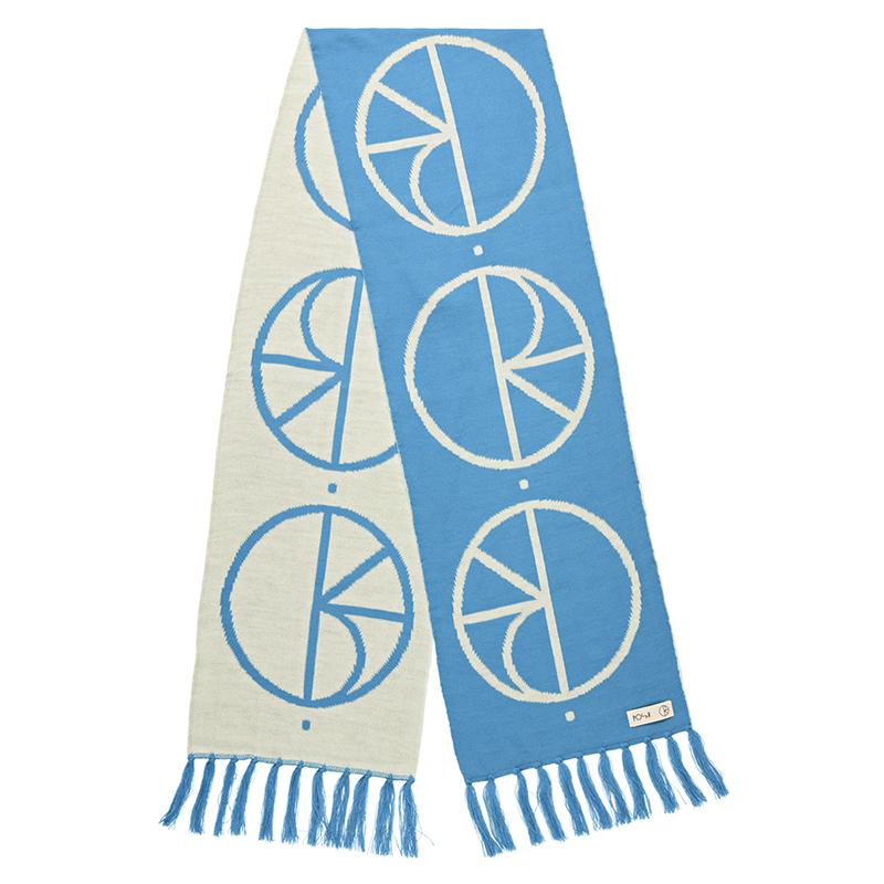 Polar Stroke Logo Scarf Pool Blue