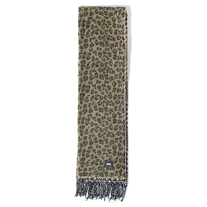 Stussy Double Faced Wool Scarf Brown