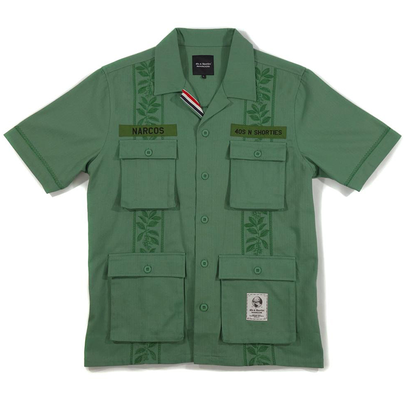 40s & Shorties x Narcos Search Bloc Shirt Olive