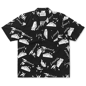 Carhartt Anderson Solid Shortsleeve Shirt Solid Print/Black/White