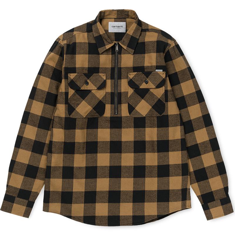 Carhartt Francis Shirt Check Hamilton Brown