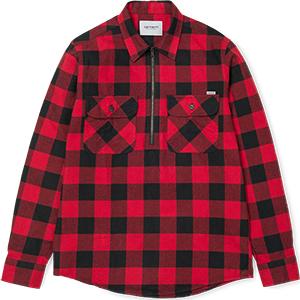 Carhartt Francis Shirt Francis Check Blast Red