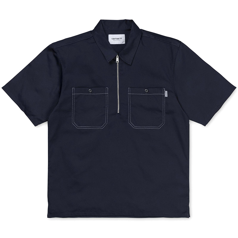 Carhartt Malford Shirt Dark Navy Rinsed