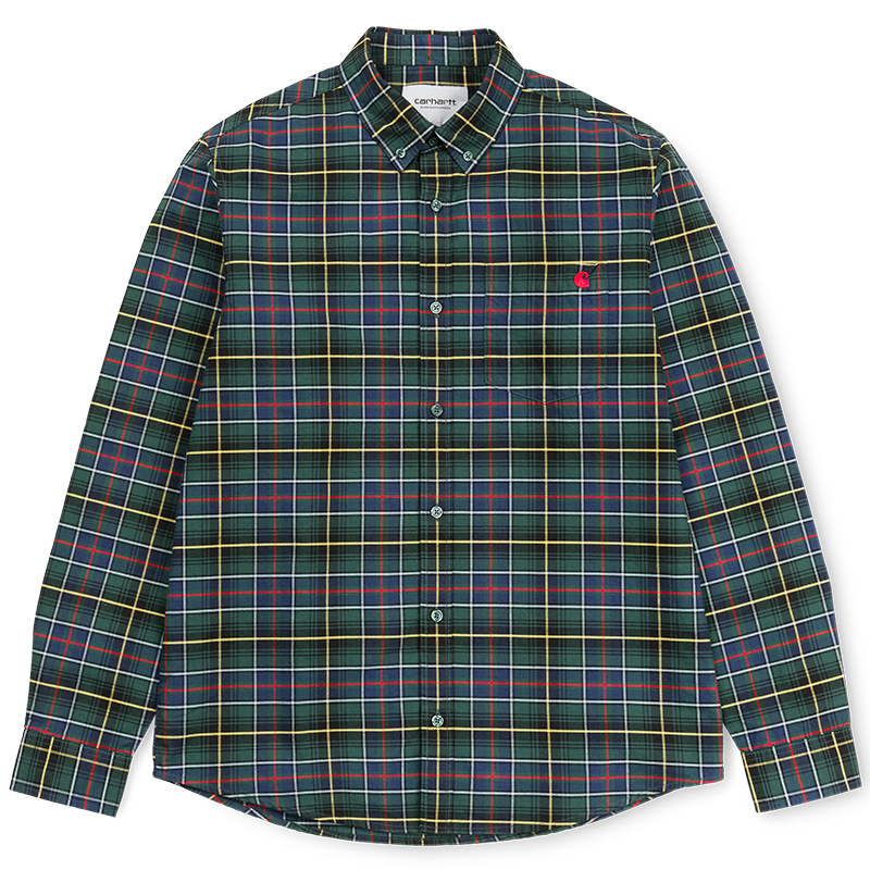 Carhartt Patton Shirt Patton Check Cedar/Red