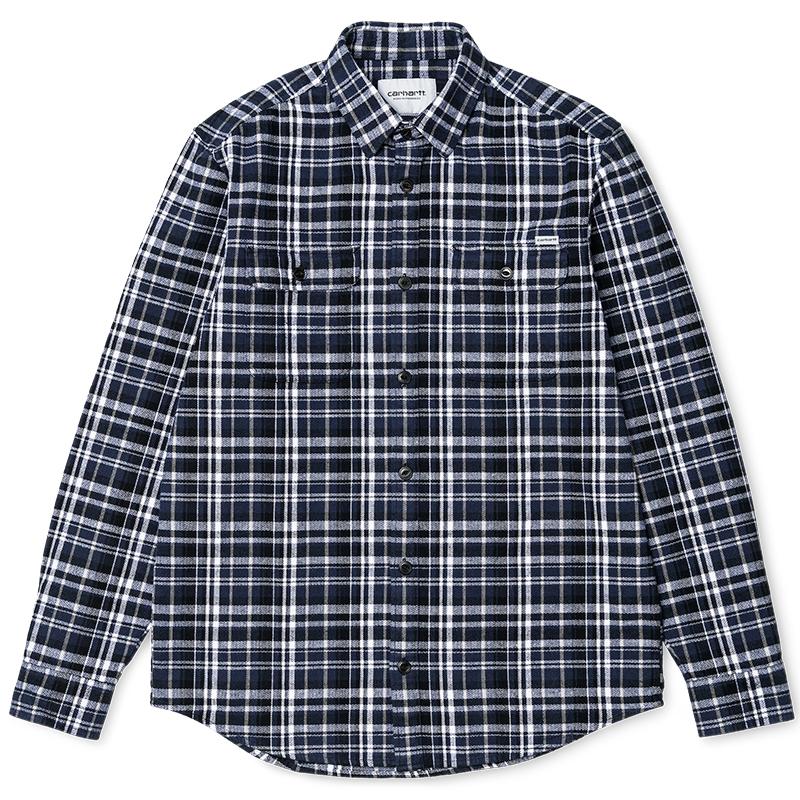 Carhartt Stinson Shirt Stinson Check Blue