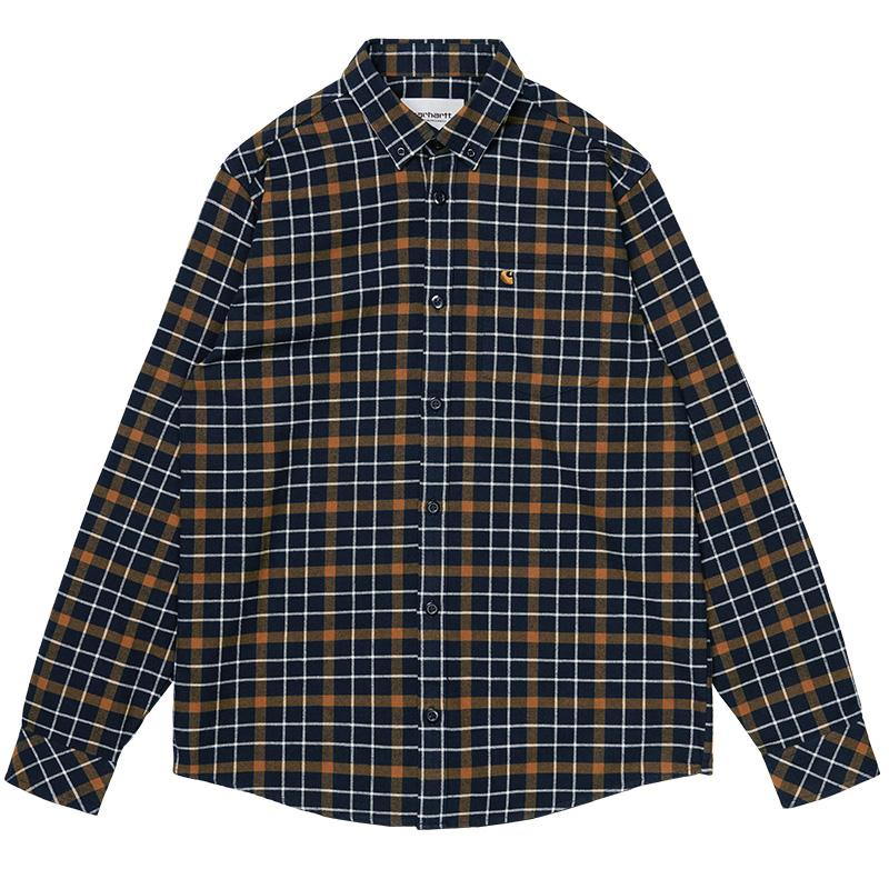 Carhartt WIP Baxter Shirt Baxter Check Astro/Tawny
