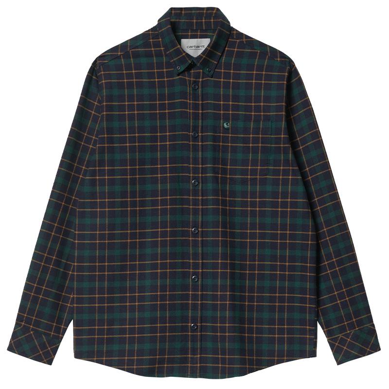 Carhartt WIP Baxter Shirt Baxter Check Baxter Check Dark Navy/Grove