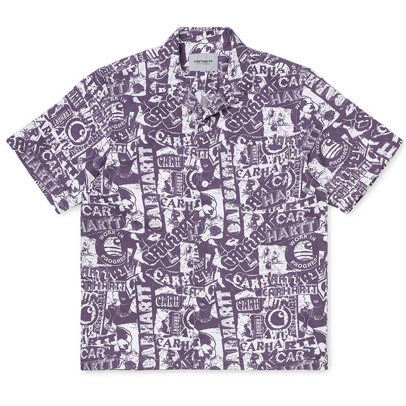 Carhartt WIP Collage Shirt Collage Print/ Decent Purple/White