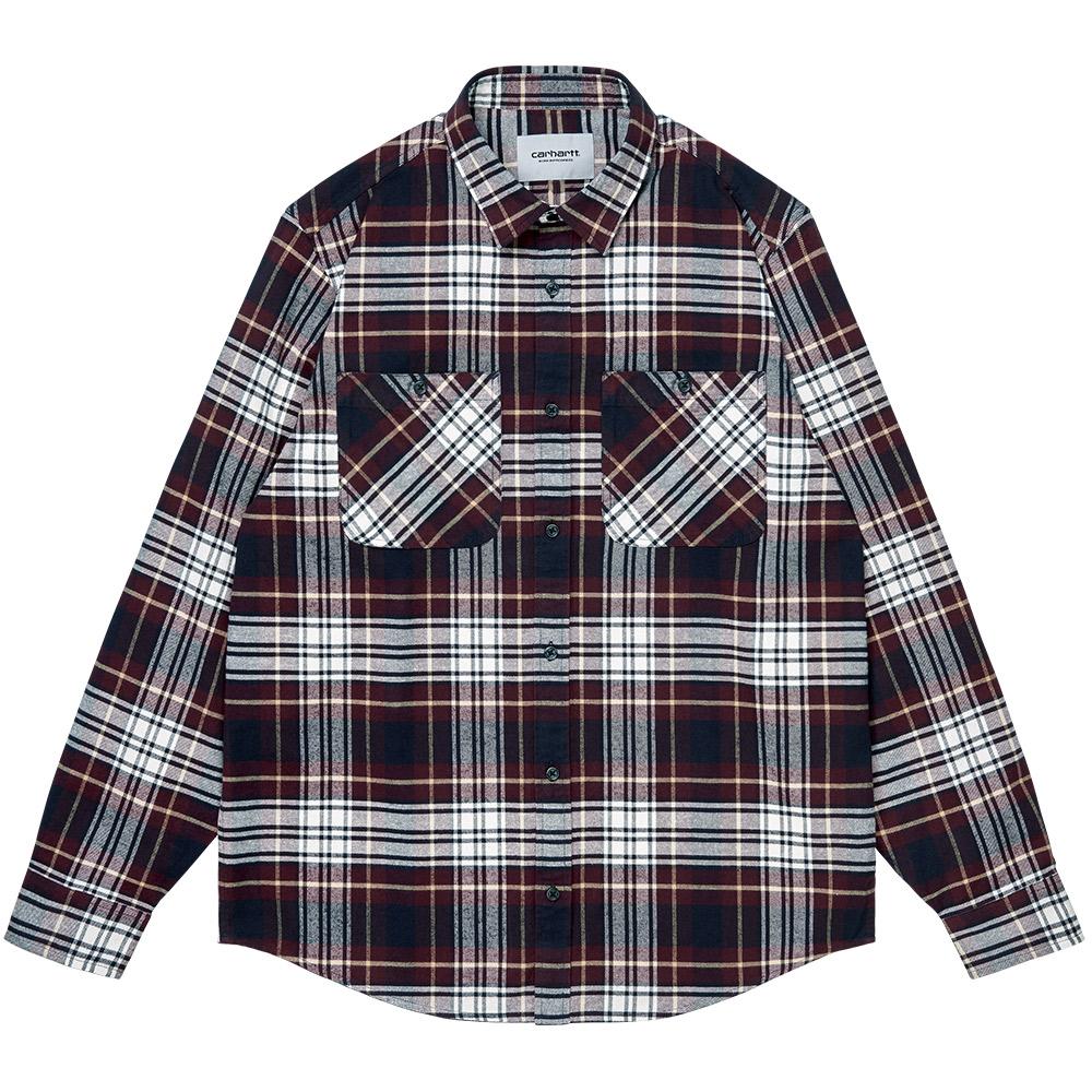 Carhartt WIP Dunbar Shirt Dunbar Check Wine