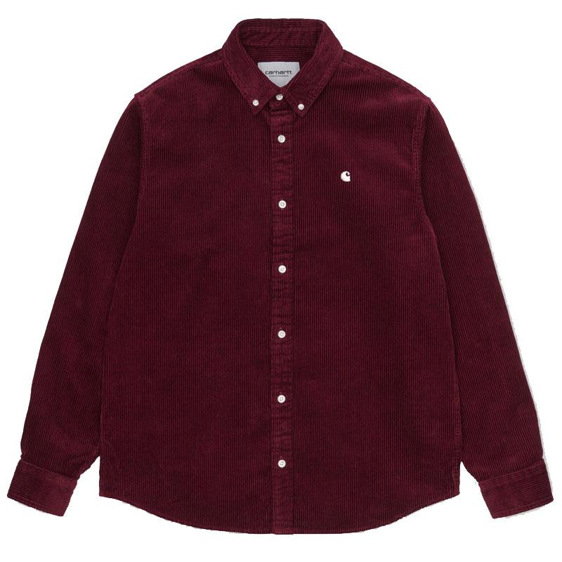 Carhartt WIP Madison Cord Longsleeve Shirt Bordeaux/Wax