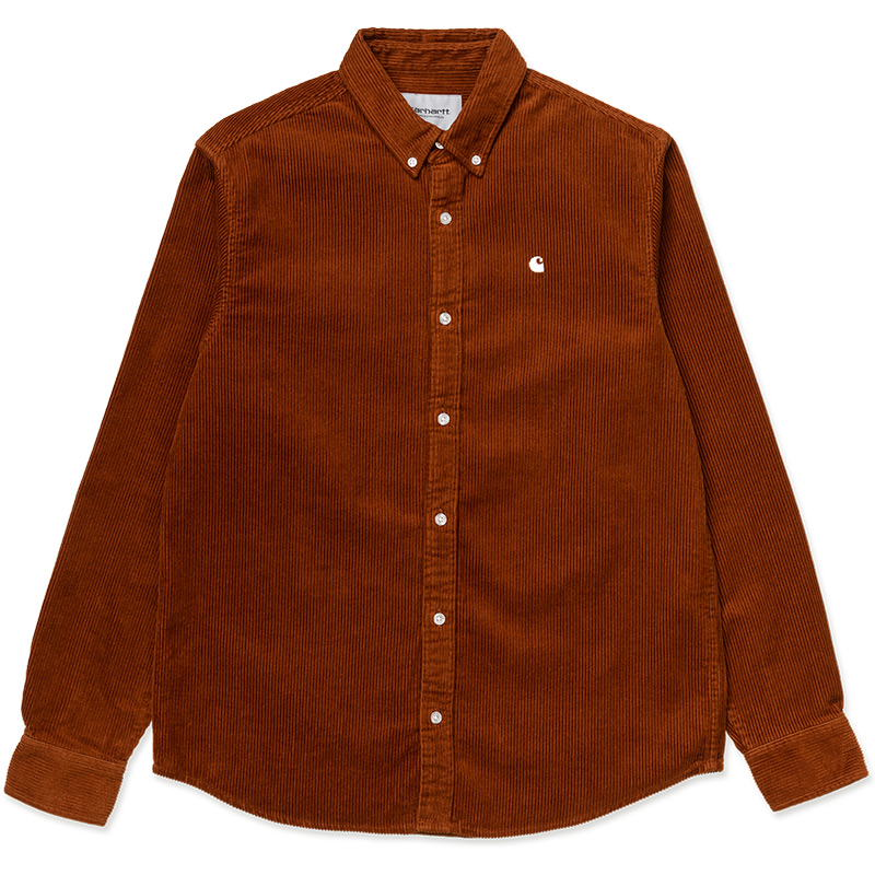 Carhartt WIP Madison Cord Longsleeve Shirt Brandy/Wax