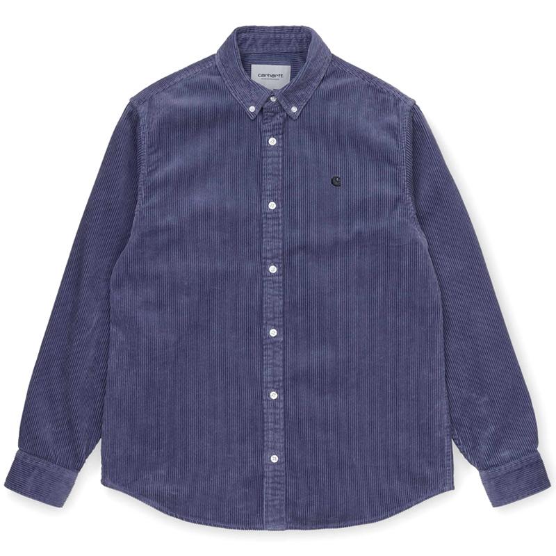Carhartt WIP Madison Cord Longsleeve Shirt Cold Viola/Black