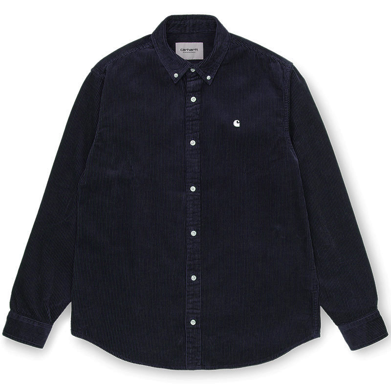 Carhartt WIP Madison Cord Longsleeve Shirt Dark Navy/Wax
