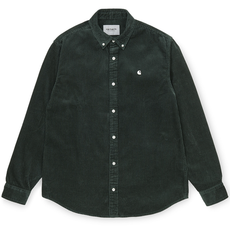 Carhartt WIP Madison Cord Longsleeve Shirt Dark Teal/Wax
