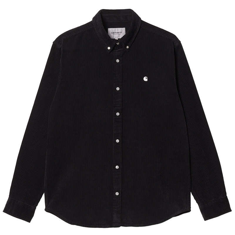 Carhartt WIP Madison Cord Longsleeve Shirt Black/Wax