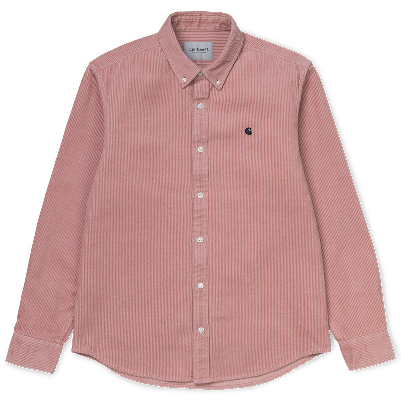 Carhartt WIP Madison Cord Shirt Blush/Duck Blue