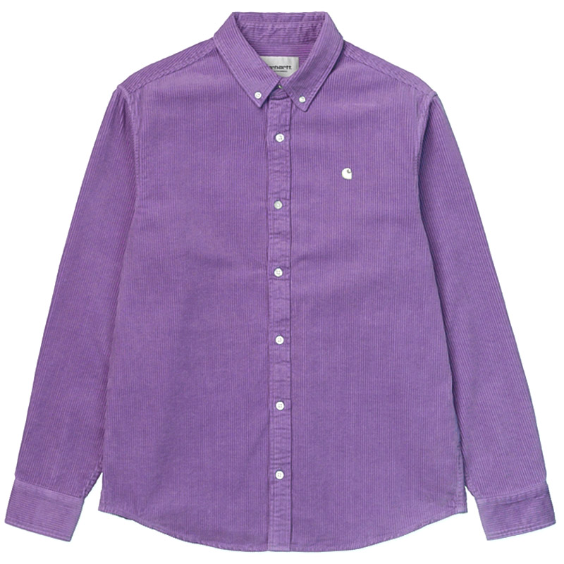 Carhartt WIP Madison Cord Shirt Dusty Mauve/Cinder