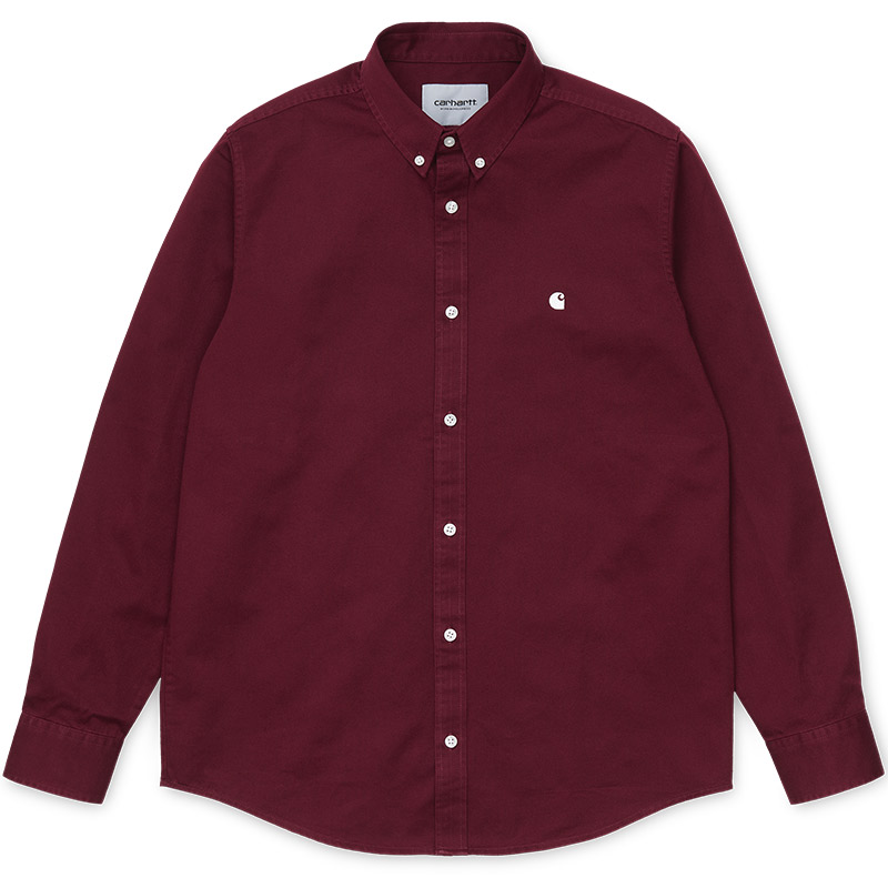 Carhartt WIP Madison Longsleeve Shirt Bordeaux/Wax