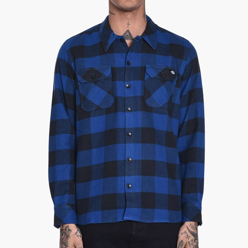 Dickies Sacramento Relaxed Long Sleeve Shirt Blue