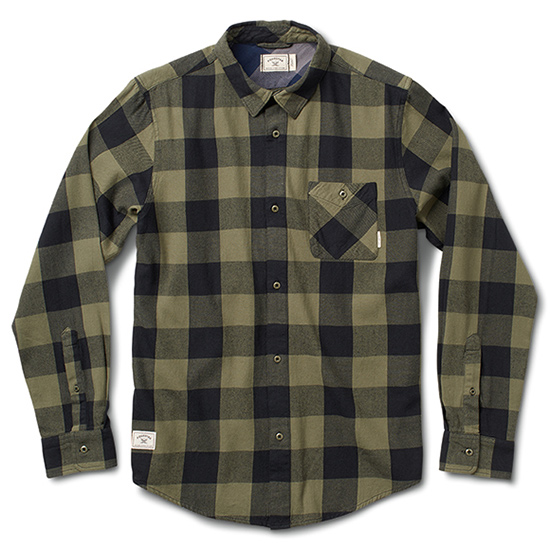 Fourstar Buffalo Flannel Longsleeve Shirt Olive