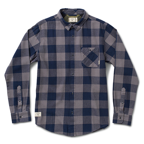 Fourstar Buffalo Quilted Flannel Longsleeve Shirt Grey