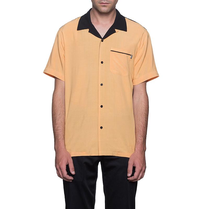 HUF Cherish Bowling Shirt Cantaloupe