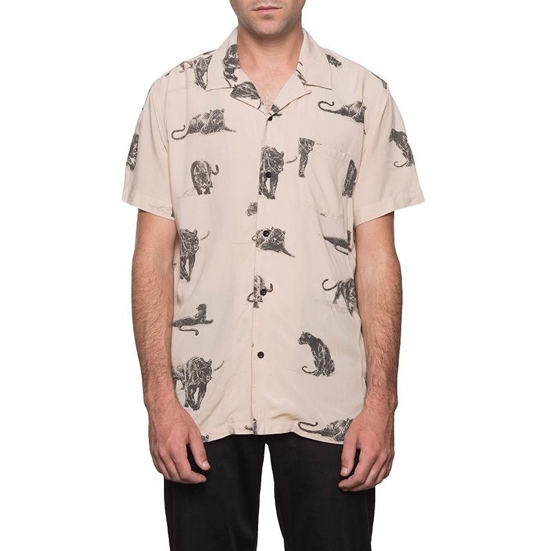 HUF Exotica Shirt Beige