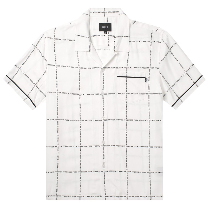 HUF Fuck It Woven Shirt White