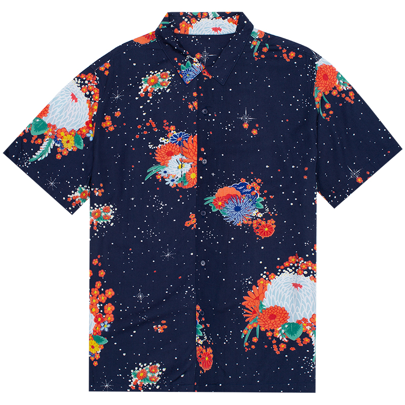HUF Memorial Shirt Moon Indigo
