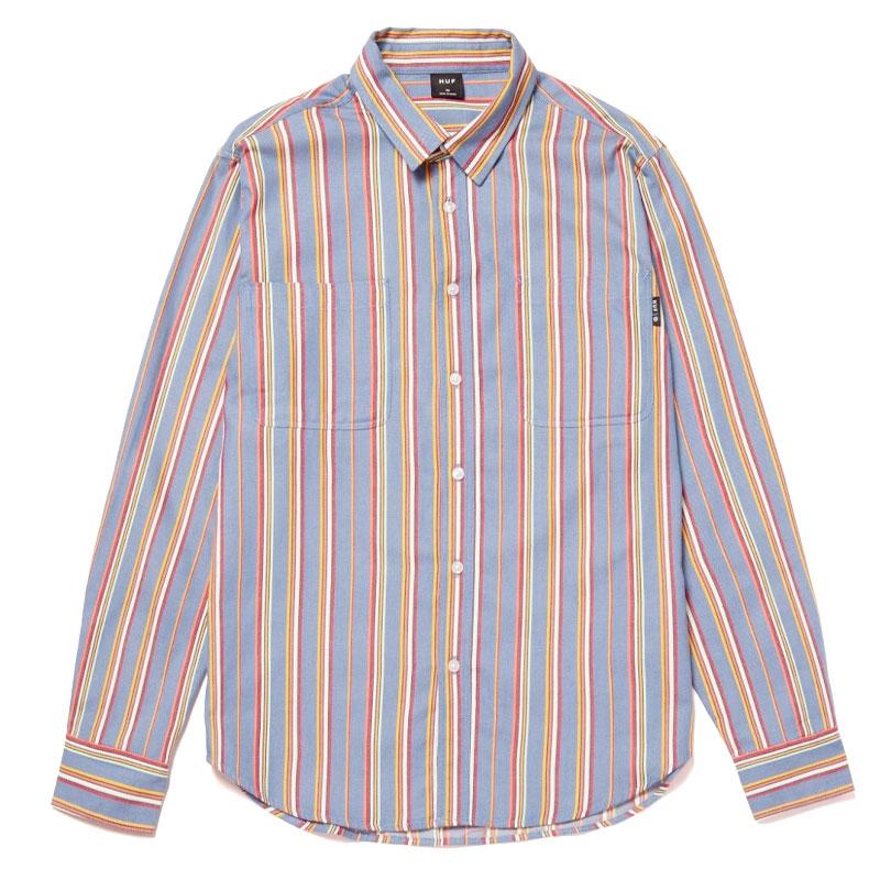 HUF Taylor Work Woven Longsleeve Shirt Indigo